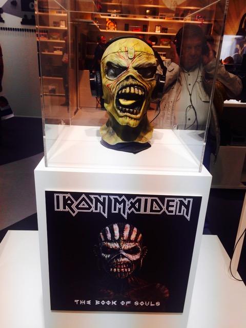 Präsentation der Iron Maiden-Kopfhörer bei der IFA 2015 in Berlin