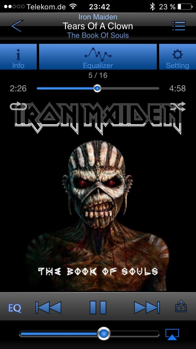 Die Iron Maiden App von Onkyo