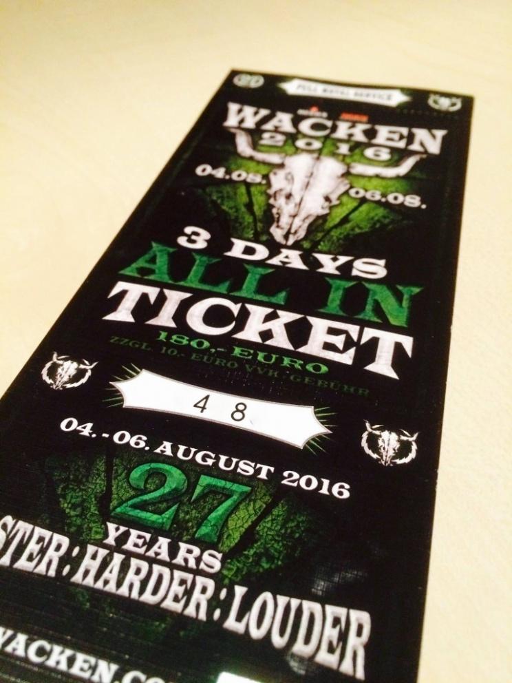 Wacken Ticket