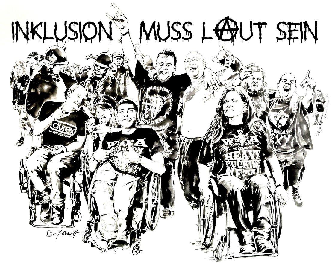 Inklusion muss laut sein! Zeichnung vom Künstler Jens Rusch!