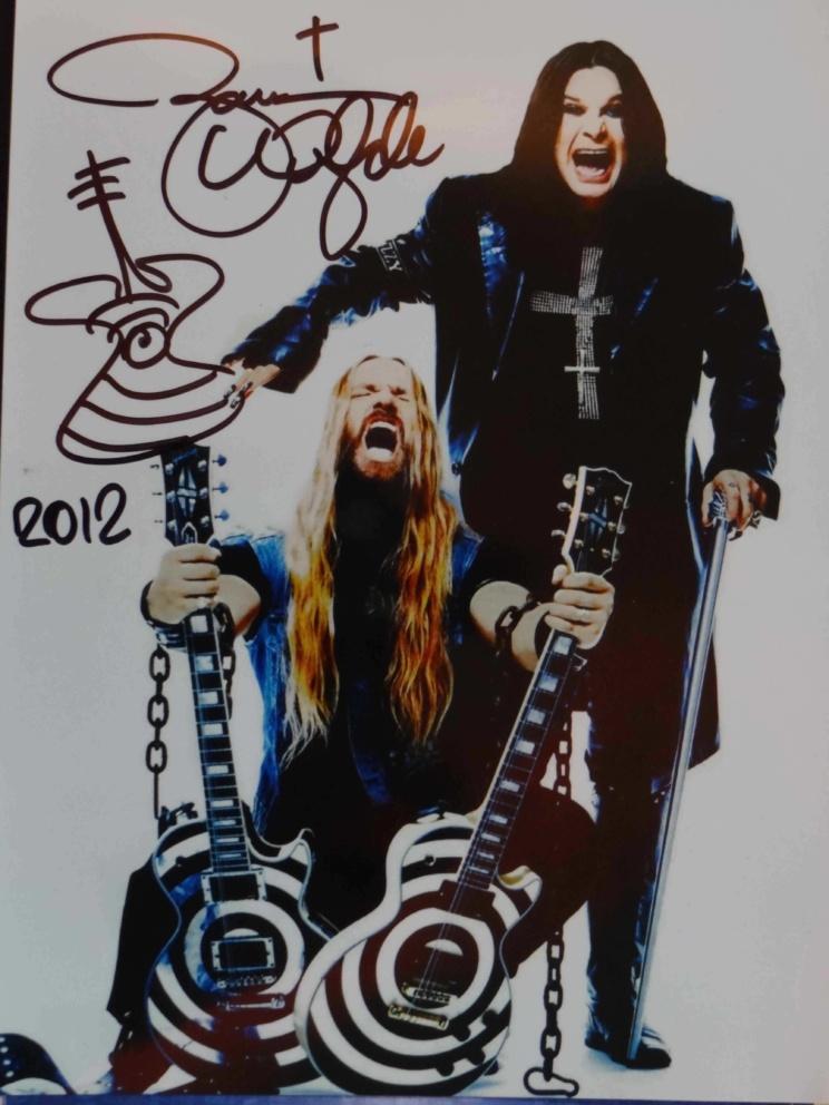 Ozzy Osbourne - Zakk Wylde signiert