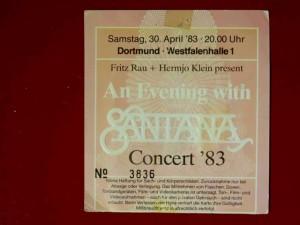 Santana 1983 Dortmund