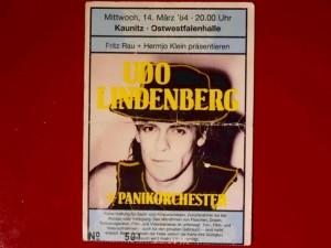 Udo Lindenberg 1984 Ostwestfalenhalle Kaunitz