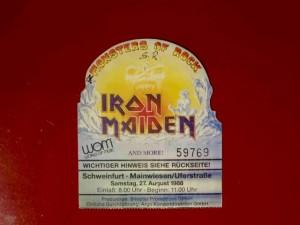 Iron Maiden Schweinfurt 1988