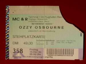 Ozzy Osbourne 1995 München