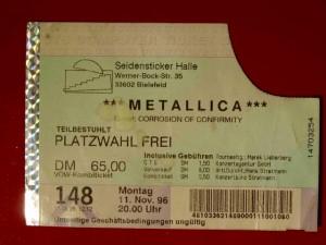 Metallica 1996 Bielefeld