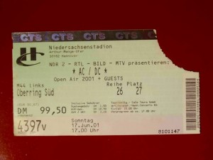 AC/DC 2001 Hannover