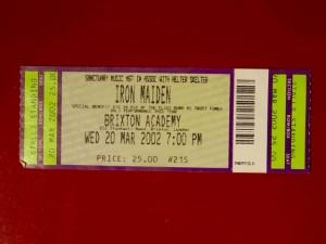 Iron Maiden Brixton 2002 / Wed