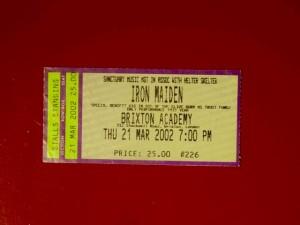 Iron Maiden Brixton 2002 / Thu
