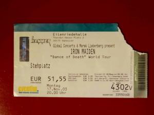 Iron Maiden Hannover 2003