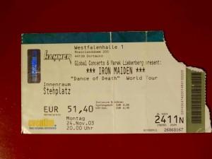 Iron Maiden Dortmund 2003