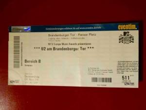 U2 2009 Brandenburger Tor