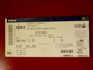 Nickelback 2012 Hamburg