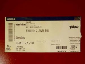 Firewind 2012 - Hamburg