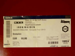 Iron Maiden 2013 Oberhausen